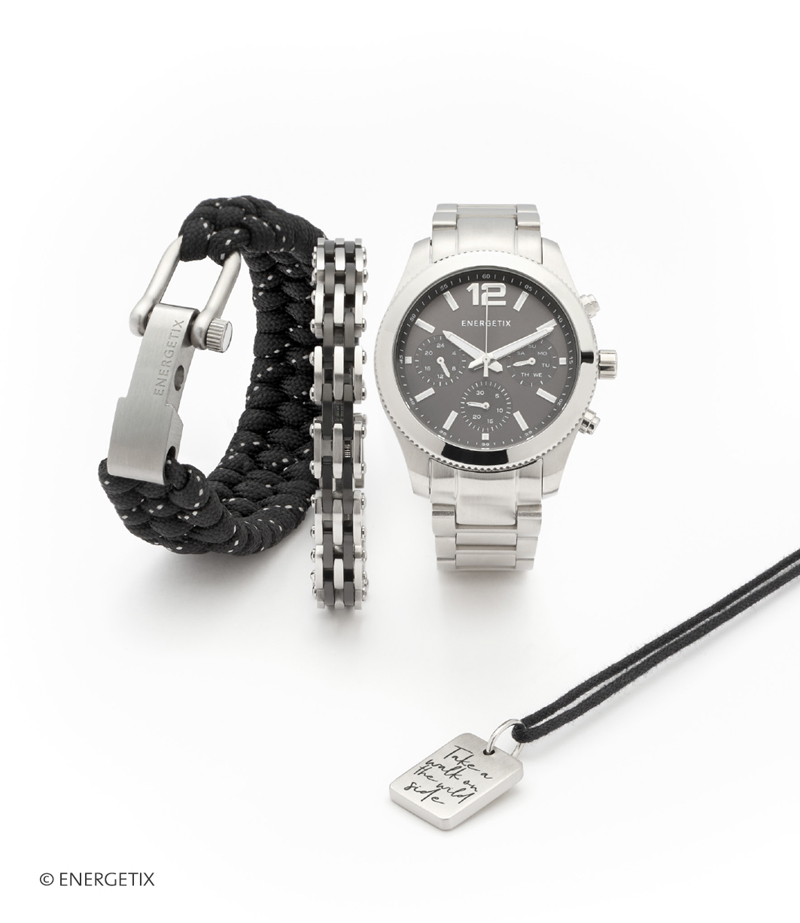 aimants-bijoux.energetix.tv VDI Montre, bracelet et pendentif magnétique pour Homme