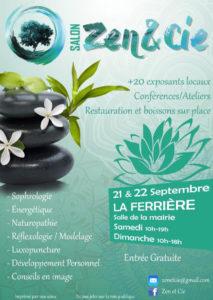 2d Salon Zen & Compagnie la Ferrière Salle de la Mairie 10h 19 h Samedi 21 et dimanche 22 septembre 2019